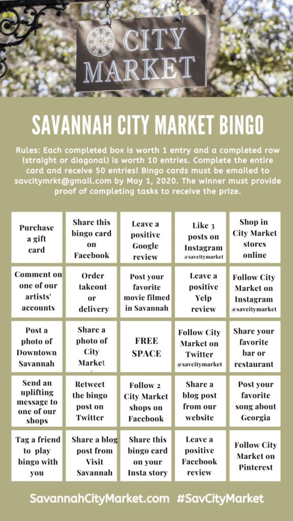 Savannah City Market Bingo